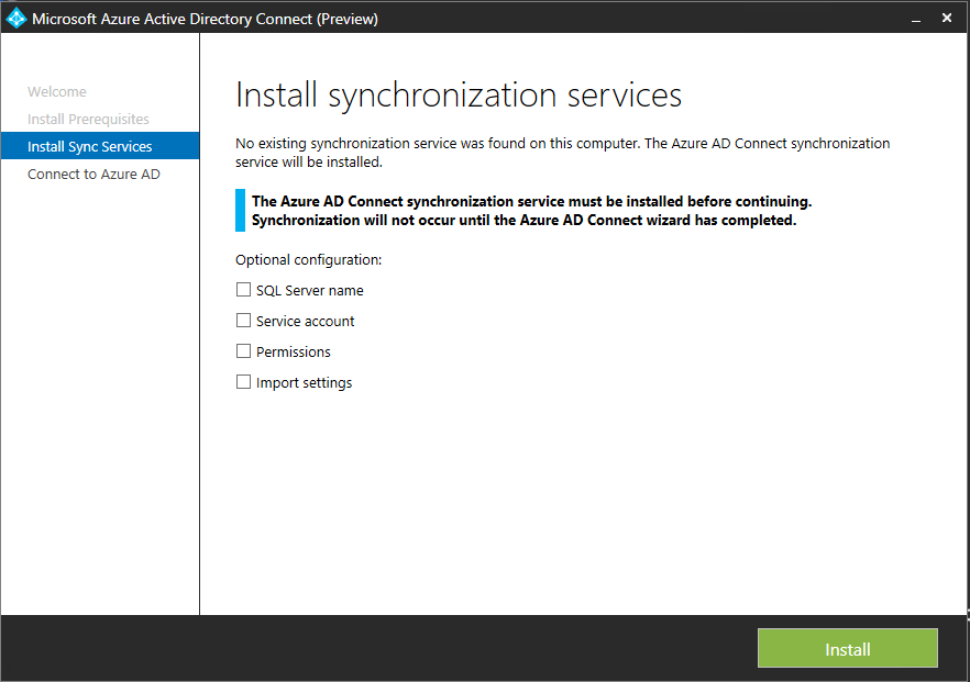 microsoft azure active directory connect and microsoft azure active directory sync