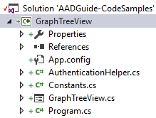 VS GraphTreeView Solution Explorer